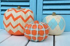 Fun ways to paint pumpkins