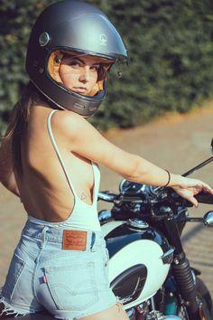 notitle men s bathroom men s bathroom notitle Indian Motorcycles, Triumph Motorcycles, Lady Biker, Biker Girl, Motard Sexy, Chicks On Bikes, Motorbike Girl, Motorcycle Bike, Cafe Racer Girl
