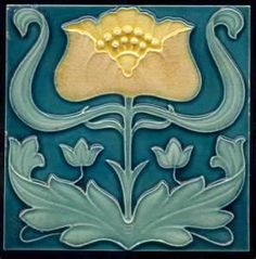 """Inspiration for my 2014 BCRC Art Bra """"HeArt Nouveau"""". I finished the art bra last weekend and turned it in Monday. Pictures of the art bra to be posted soon. ~ OP: Art Deco tile for the kitchen"""