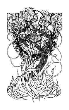 Fleurskull by John Dyer Baizley