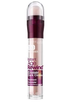 Instantly erase dark circles & fine lines with Maybelline's Age Rewind concealer. For a radiant & refreshed eye area.