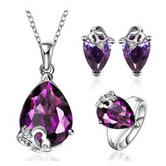 MAK Vintage Stud Earrings With Finger Rings And Necklaces Purple Amethyst With Butterfly Crystal Design Fashion Jewellery Sets For Women Wedding Gifts (Intl)<BR><BR><BR>shop-womens-wedding-bridal-jewellery-sets<BR><BR>http://www.9mserv.com/detail.php?pid=2782750&cat=shop-womens-wedding-bridal-jewellery-sets