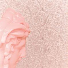 Barocco Metallics by Versace - Rose Pink - Wallpaper : Wallpaper Direct Gold Metallic Wallpaper, Grey Floral Wallpaper, Colorful Wallpaper, Of Wallpaper, Designer Wallpaper, Wallpaper Online, Wallpaper Ideas, Versace Wallpaper, Versace Home