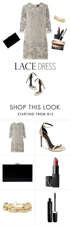 """LaceDress"" by daniela-castro-741 ❤ liked on Polyvore featuring Biyan, Yves Saint Laurent, Charlotte Olympia, NARS Cosmetics, Slate & Willow, Marc Jacobs, dress and lacedress"
