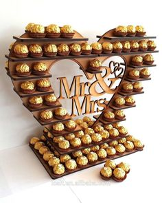 Ferrero Rocher Heart Tree With Removable Centre Many Variations holds 180 in Home Furniture & DIY Wedding Supplies Centerpieces & Table Decor Diy Wedding Supplies, Sweet Corner, Heart Tree, Wedding Sweets, Chocolate Bouquet, Candy Bouquet, Chocolate Gifts, Chocolate Cake, Candy Gifts