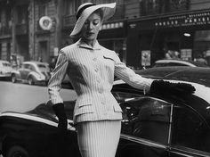 Elegant suit of striped flannel rayon, photo by Willy Mayw… | Flickr