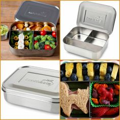 LunchBots Trio Stainless Steel Food Container  Best Lunchbox for kids!