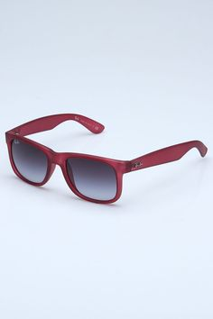 Ray Ban Justin Sunglasses in Transparent Violet and Black