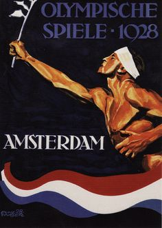 Olympics 1928 Amsterdam Vintage poster #Olympics #Design