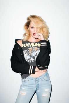 Candice Swanepoel in Ramones t-shirt