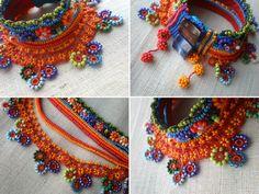 Magdalenae fucsia... Forma libre Crochet por irregularexpressions