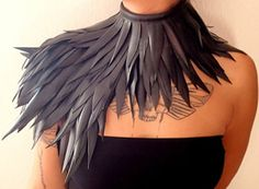 BEST SELLER of the HALLOWEEN Month! Feather collar made of recycled inner tube is our best selling accessory in the USA!! https://www.etsy.com/listing/181219653/collar-handmade-with-short-feathers-of?ref=pr_shop www.maisonrode.com