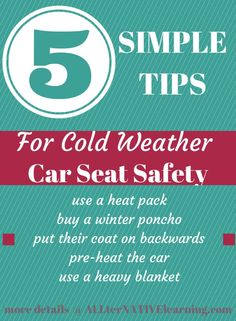 Five simple tips for keeping kids safe and warm in the car during the winter and cold months. From infant to bigger kids and even adults, coats should not be worn under seat belts so these are some easy ways to find better options Parenting Articles, Kids And Parenting, Winter Car, Cozy Winter, Bring Up A Child, Child Safety, Toddler Preschool, Seat Belts, Baby Car Seats