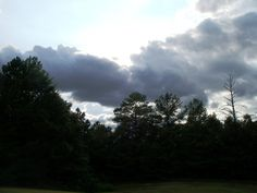 Stormy clouds..