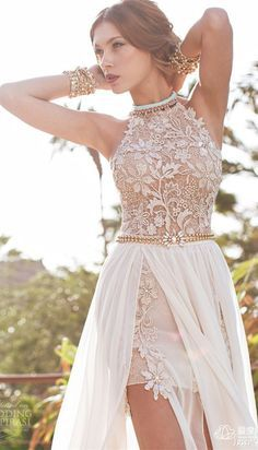$129--Hot Sale High Neck Lace Appliques Long Chiffon Prom Dress from www.27dress.com