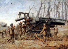 British heavy artillery crew