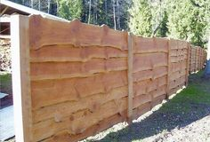live edge siding | Live edge boards make an interesting fence or siding material. The ...