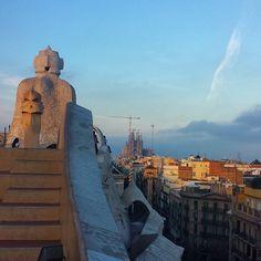 #lapedrera #gaudi #antonigaudi #rooftop #barcelona