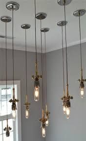 Image result for hanging edison lights from branch