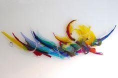 Wallobject Glass made by Annemiek Punt a famous Dutch Artist http://goo.gl/N3J4i