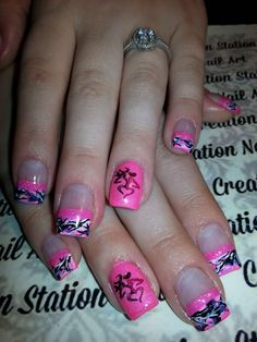 50 Pretty Halloween Wedding Nails Art Ideas Pretty Halloween Wedding Nails Art Ideas 1650 Pretty Halloween Wedding Nails Art IdeasBy Posted on October Pink Camo Nails, Camouflage Nails, Plaid Nails, Sparkly Nails, Camo Nail Designs, Girls Nail Designs, Art Designs, Redneck Nails, Country Girl Nails