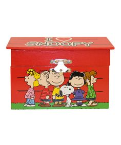 Look what I found on #zulily! Peanuts 'I Love Snoopy' Musical Jewelry Box #zulilyfinds