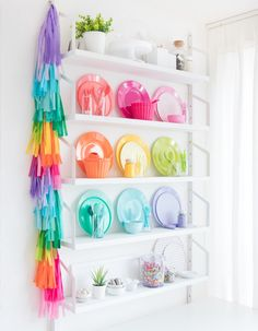 Come tour my colorful baking studio! In part two of my reveal we're taking a closer look at my sprinkle storage, decoration station, and styling station! I The Sprinkle Factory Rainbow Kitchen, Rainbow Room, Decorating Your Home, Diy Home Decor, Room Decor, Decorating Ideas, Craft Ideas, Decor Ideas, Colorful Apartment