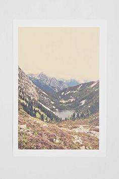 Kurt Rahn Mountain Flowers Art Print-Urban Outfitters