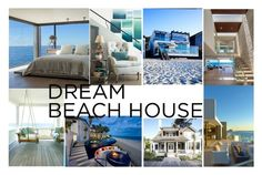 """My Dream Beach House"" by siennabouzounis ❤ liked on Polyvore featuring interior, interiors, interior design, home, home decor, interior decorating and dreambeachhouse"