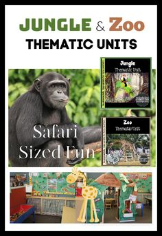 Zoo and Jungle Thematic Units — Kindergarten Kiosk Rhyming Kindergarten, Kindergarten Graduation, Preschool, Teaching The Alphabet, Teaching Kids, Connected Learning, Dramatic Play Area, Thematic Units, Classroom Community