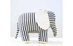 Black & white striped elephant - Modern kids toys by Cow