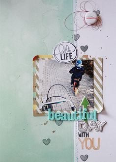 by scissorsglue_paper at ideas: scrapbook layout idea. by scissorsglue_paper at Scrapbook Layout Sketches, Scrapbook Designs, Scrapbooking Layouts, Kids Scrapbook, Scrapbook Paper Crafts, Scrapbook Cards, Studio Calico, Layout Inspiration, Thing 1