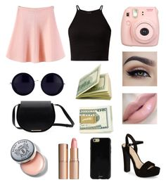 """""""Vacation day 3"""" by melenah ❤ liked on Polyvore featuring Fujifilm, WithChic, Jessica Simpson, Korres, Charlotte Tilbury, Sonix, Bobbi Brown Cosmetics and Linda Farrow"""