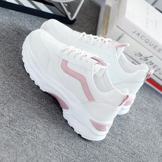 Womens Fashion Sneakers, Fashion Shoes, Sneakers Women, Cool Womens Sneakers, Platform Sneakers, Shoes Sneakers, White Sneakers, Colorful Sneakers, Kawaii Shoes