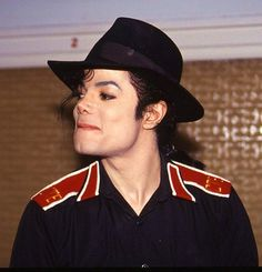 MJ--looks like he is trying not to laugh at something :)