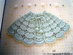 Delicadezas en crochet Gabriela: Capa para niñas
