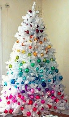 Colorful rainbow Christmas tree