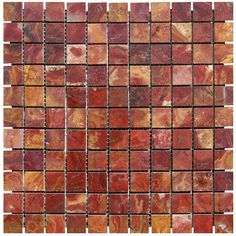 Red Onyx Polished 1x1 Mosaic Onyx Tile, for the idea in backsplash wall kitchen...