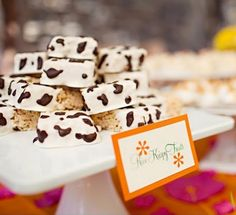 "Party Frosting: cow-print ""haystacks"" for barnyard party"