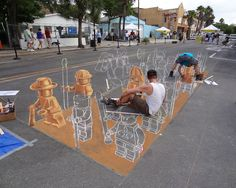 lego 3d street mural