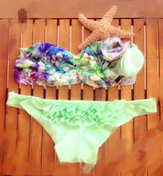 Flower collection - handmade swimwear
