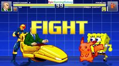 SpongeBob SquarePants & Pikachu The Pokemon VS Professor X & Nova In A MUGEN Match / Battle This video showcases Gameplay of Pikachu The Electric Type Pokemon And SpongeBob SquarePants VS Professor X The Leader Of The X-Men And Nova The Superhero In A MUGEN Match / Battle / Fight