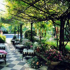 Weintraube Pergola Pool Gestaltungsideen-Garten