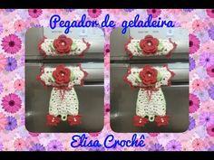 Versão destros : Pegador de geladeira borboletas em crochê ( 1ª parte ) # Elisa Crochê - YouTube