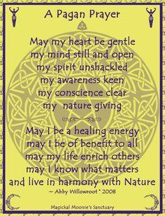 A Pagan Prayer