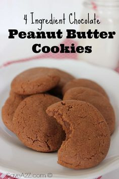Check out our amazing recipe for out amazing 4 Ingredient Chocolate Peanut Butter Cookies! If you needed a dessert recipe, then you can look no further!
