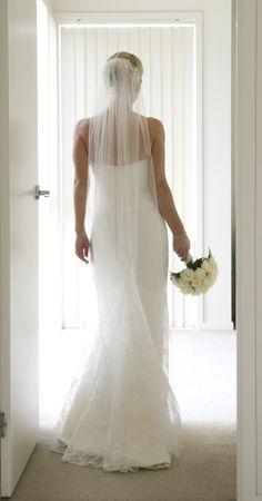 Long single veil from Paddington Weddings www.paddingtonweddings.com.au