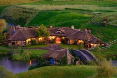 The Green Dragon Pub at Hobbiton near Matamata in New Zealand.