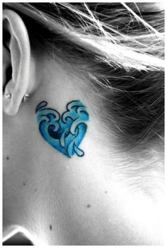 #wave  #heart #tattoo