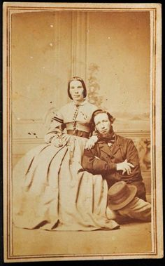 CDV Photo of Polly Ann Hayward Henry & her husband George Henry.  No photograper info.  They lived in Canada, she was an author & he was active in politics.